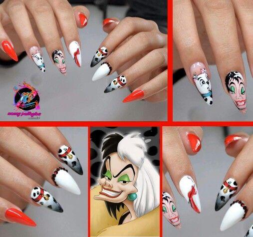 Nancy nail art cartoon style