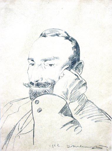 Jacek MALCZEWSKI ,Portret Feliksa Jasieńskiego, 1903 , litografia, 57 x 42,5 cm w świetle passe-partout