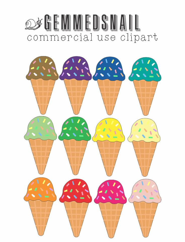 Ice cream clip art, ice cream clipart images in 12 lovely flavors! Ice cream cones with sprinkles on top