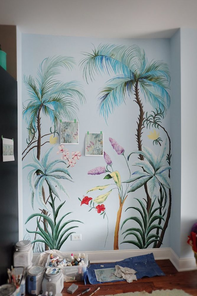Diy Hand Painted Wall Mural Wall Murals Painted Hand Painted