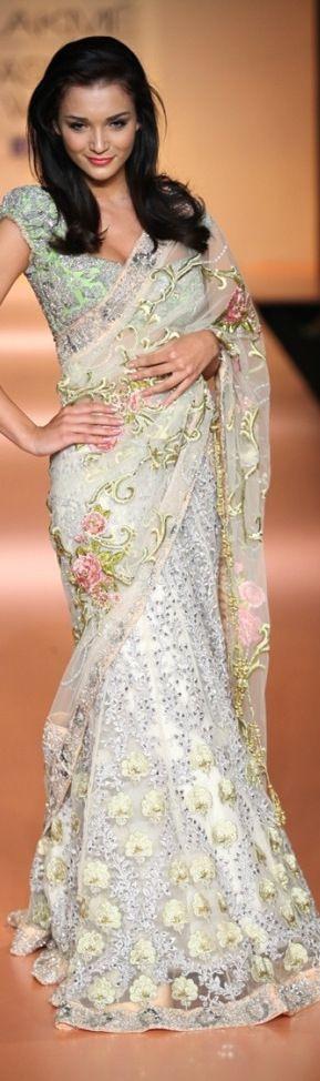 Bhairavi Jaikishan Saree at Lakme Fashion Week SS 2012 - original pin by @webjournal