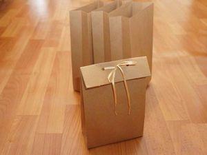 Как сделать упаковочный пакет без выкройки за 5 минут | Ярмарка Мастеров - ручная работа, handmade