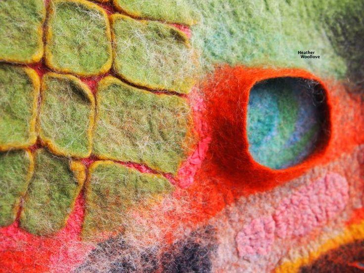 Wool love-functional fiber art: My 'Very Heather' Surface Design Sampler- Part 3 of 3
