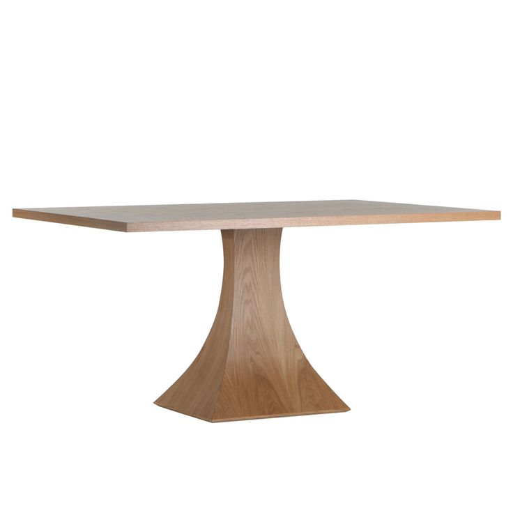 rectangular pedestal dining room table