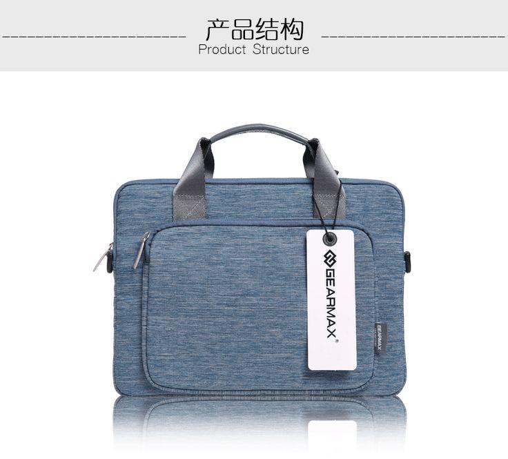 Laptop Bag 15.6 Fashion Laptop Case For Macbook Canvas One Shoulder capa para notebook Laptop Briefcase Free Shipping