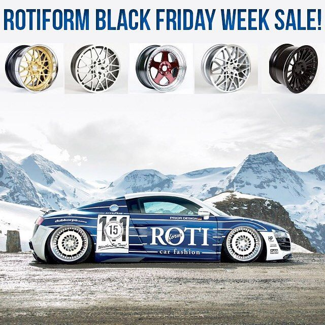 Interested in Rotifom wheels? Call us now to get special pricing during our Black Friday week SALE! 1-866-448-4843 or email Sales@Vividracing.com  #vividracing #Rotifom #audi #r8 #bmw #mercedes #vw #fitment #stance #carporn #nissan #lexus #toyota #stancenation #carswithoutlimits #infiniti