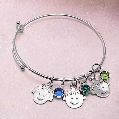 Charm And Birthstone Bracelet | Gifts For New Mothers