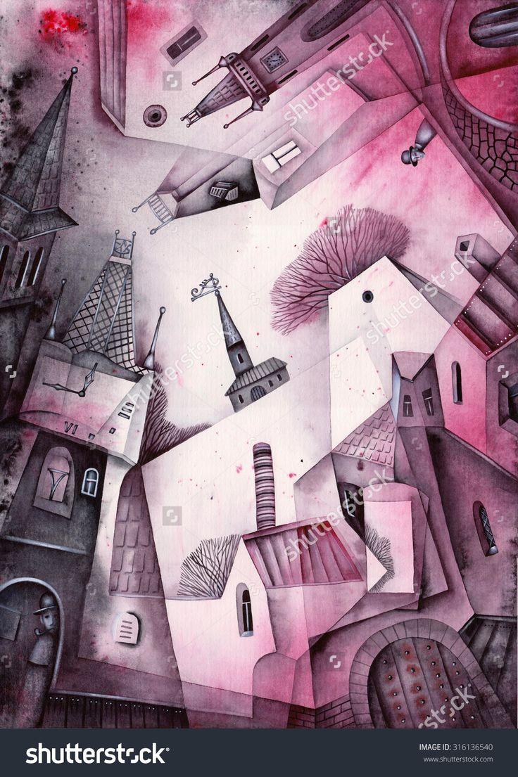 Prague Cityscape by Eugene Ivanov. #eugeneivanov #cubistic #urban #landscape #cityscape #cubism #@eugene_1_ivanov