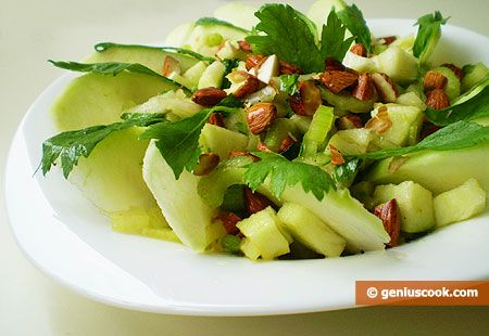 How to Make Salad with Green Apple and Celery | Dietary Cookery | Genius cook - Healthy Nutrition, Tasty Food, Simple Recipes