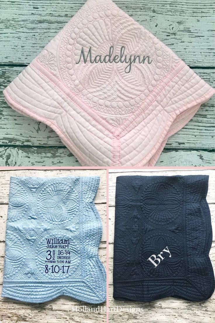 Monogrammed Baby Blanket Navy Grey Baby Monogram Baby Quilt New Baby Personalized Baby Blanket Baby Boy Quilt Personalized Baby Quilt