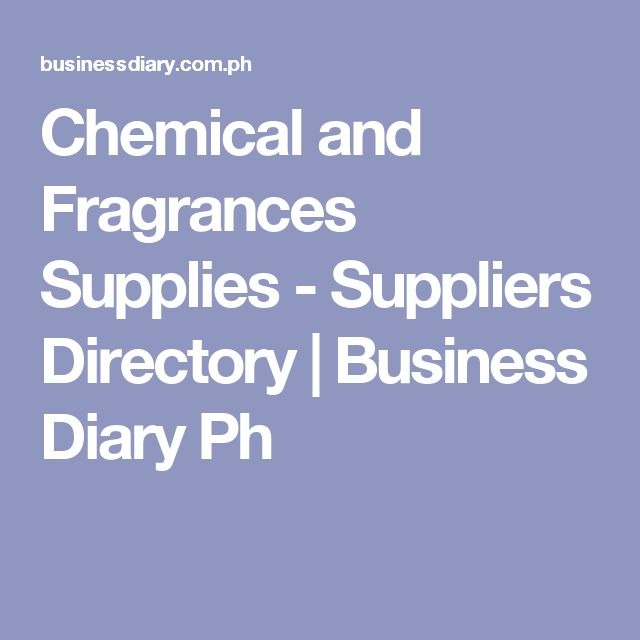 Chemical and Fragrances Supplies - Suppliers Directory | Business Diary Ph
