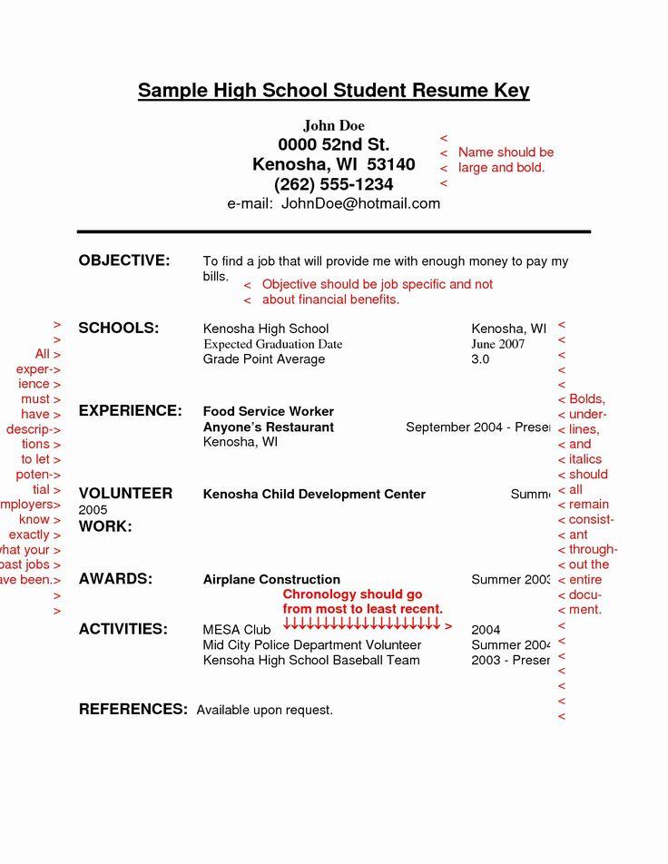 High School Student Student resume template, High school