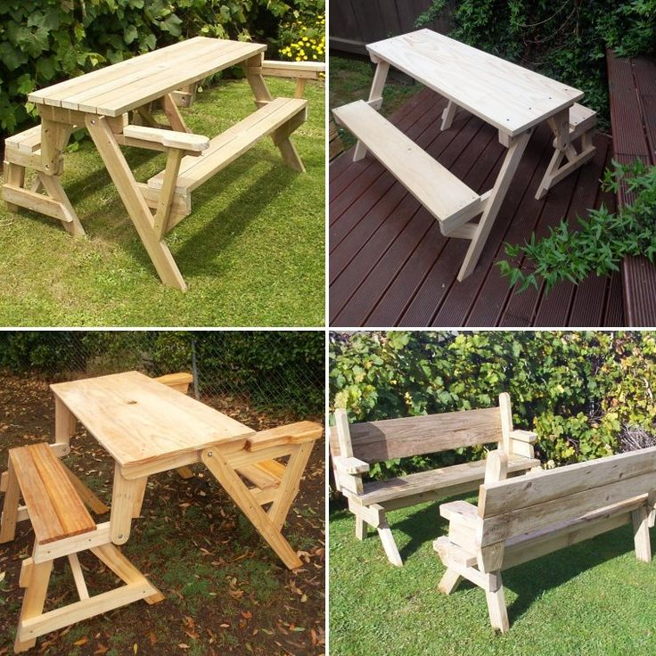 Selection of folding picnic tables