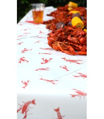 Newspaper printed with crawfish. Perfect for your spring crawfish boil!