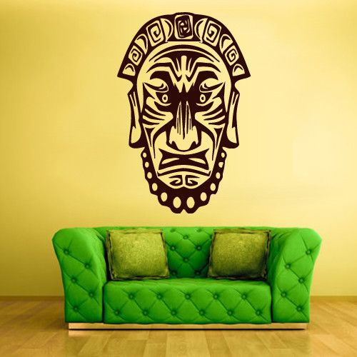 Wall Decal Sticker Old Men Mask Face Egypt Indian Antique z224