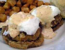 """Eggs Meeting Street -- DELICIOUS! From the restaurant """"Toast!"""" in downtown Charleston, SC."""