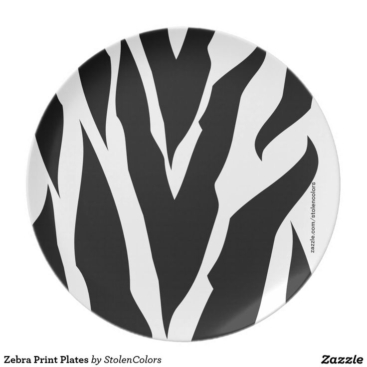 Zebra Print Plates. Melamine Plate Perfect for celebrating a special occasion or creating a one-of-a-kind dining set, our non-toxic and dishwasher-safe plates show off your photos, designs, and text in vibrant full-color printing. Adorn your home with a custom plate today!