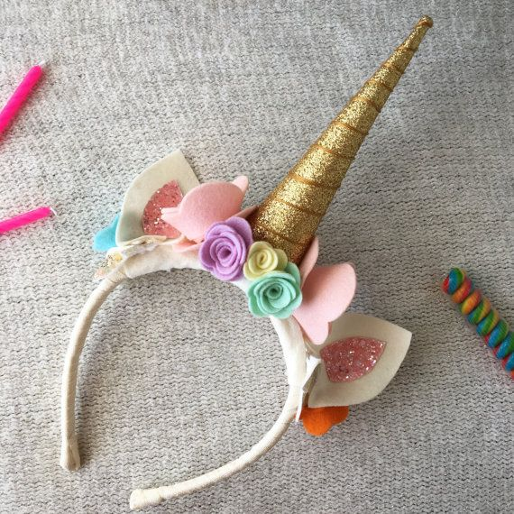 Rainbow Unicorn Birthday Crown by FaisDoDoBoutique on Etsy