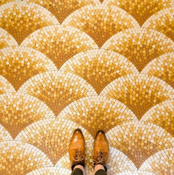 Sebastian Erras (German photographer) - Project 'Parisian Floors'. Follow the artist on Instagram @parisianfloors (colour photography, patterns, graphic design, architecture photography)