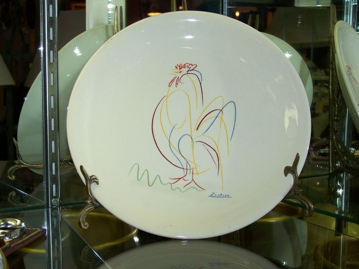 Hand painted decorative plate by PICASSO image 2