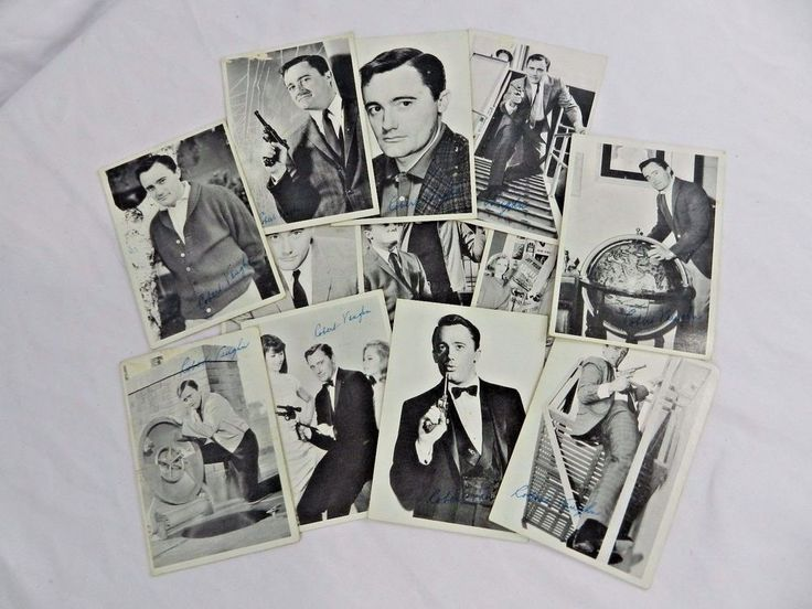 1965 Topps The Man from Uncle 12 Card Lot Robert Vaughn Puzzle Back MGM #Topps