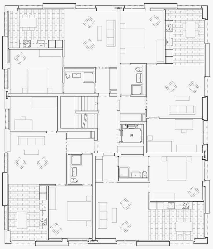 25 best ideas about grundriss mehrfamilienhaus auf pinterest wohnungsbau klassische. Black Bedroom Furniture Sets. Home Design Ideas