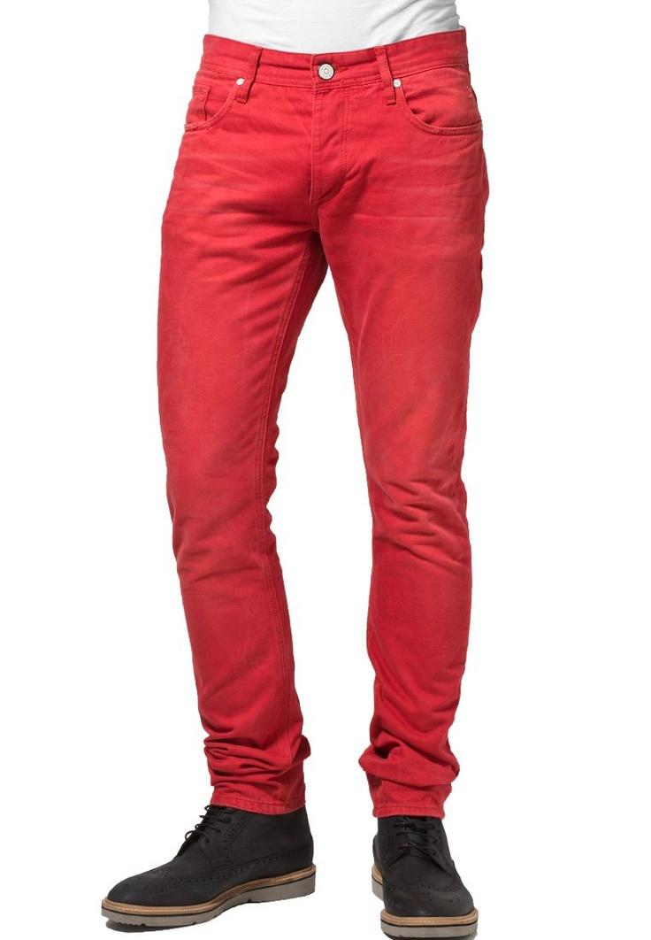 Jack & Jones - TIM - Slim fit -farkut - punainen
