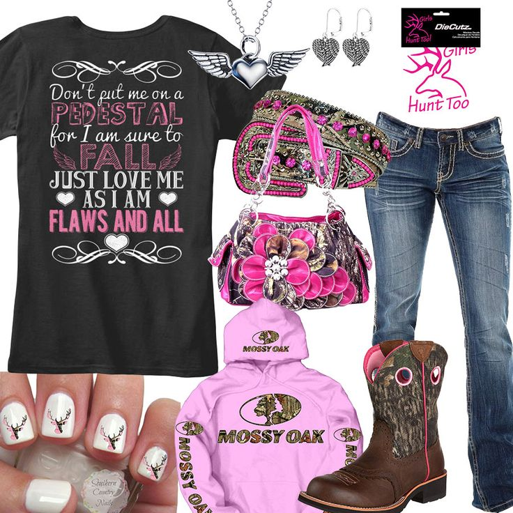 Flaws And All Pink Mossy Oak Hoodie Outfit - Real Country Ladies