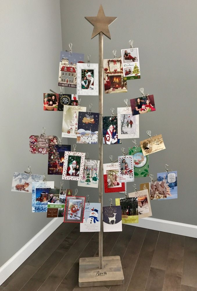 Christmas Card Holder Stand Birch Branch Card Photo Tree Christmas Tree Card Holder Gift Card Tree Christmas Card Stand
