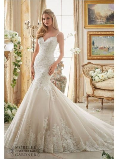 fit and flare low back mori lee 2871 wedding dress|mori lee 2871|Mori lee