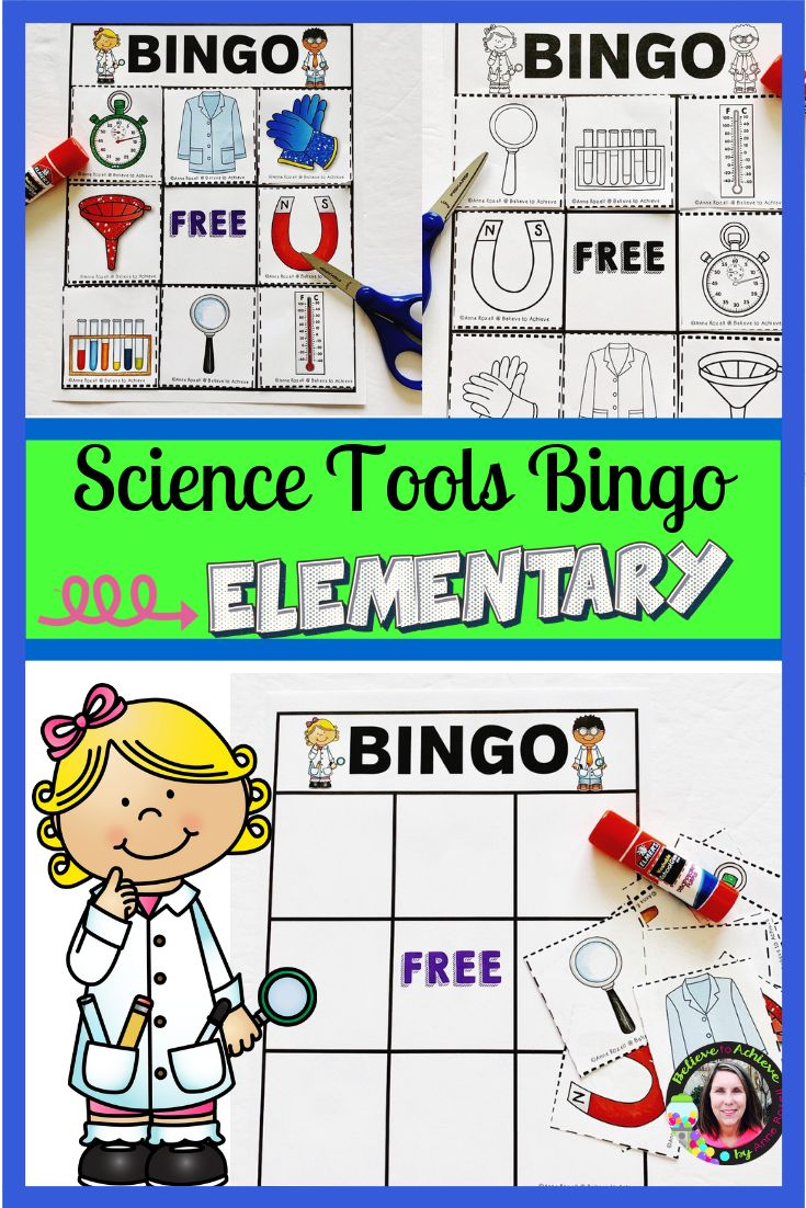 Science Tools Bingo | Science tools, Student learning, Elementary science