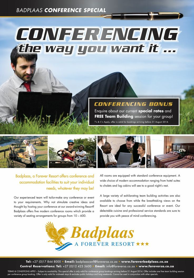 Conferencing the way you want it, at Badplaas, a Forever Resort