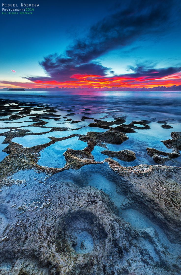 sunrise at Calheta Beach, Porto Santo Island in Portugal's Madeira archipelago (by Miguel Nóbrega on 500px)