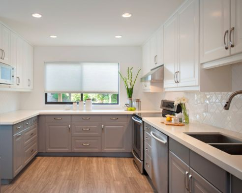 On Pinterest Gray Kitchens Two Tone Cabinets And Two Toned Kitchen