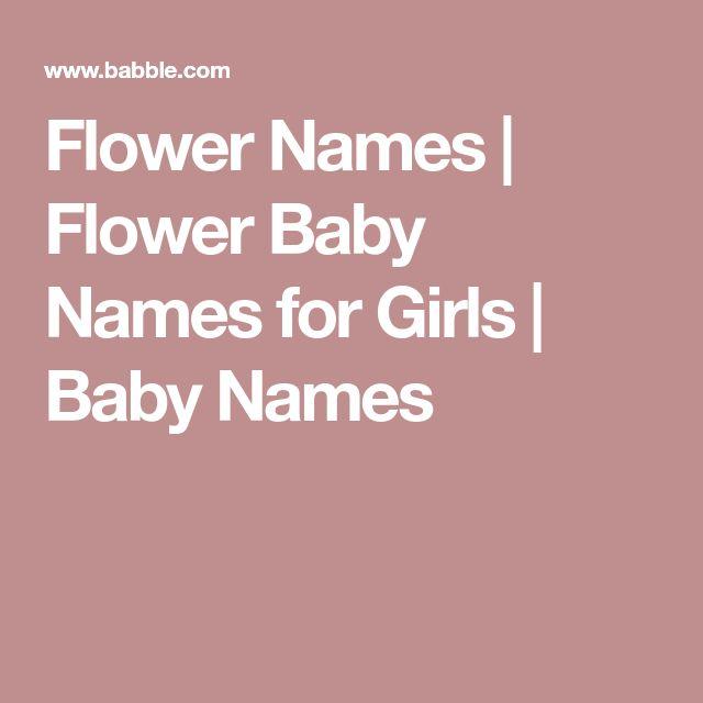 Flower Names | Flower Baby Names for Girls | Baby Names