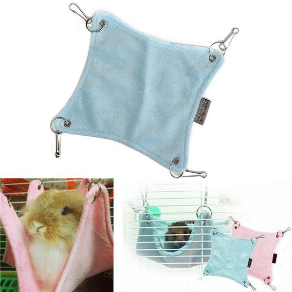 Brand New Cute Plush Warm Hammock Hanging Bed Cave For Hamster Rat Bed Pets Cage House