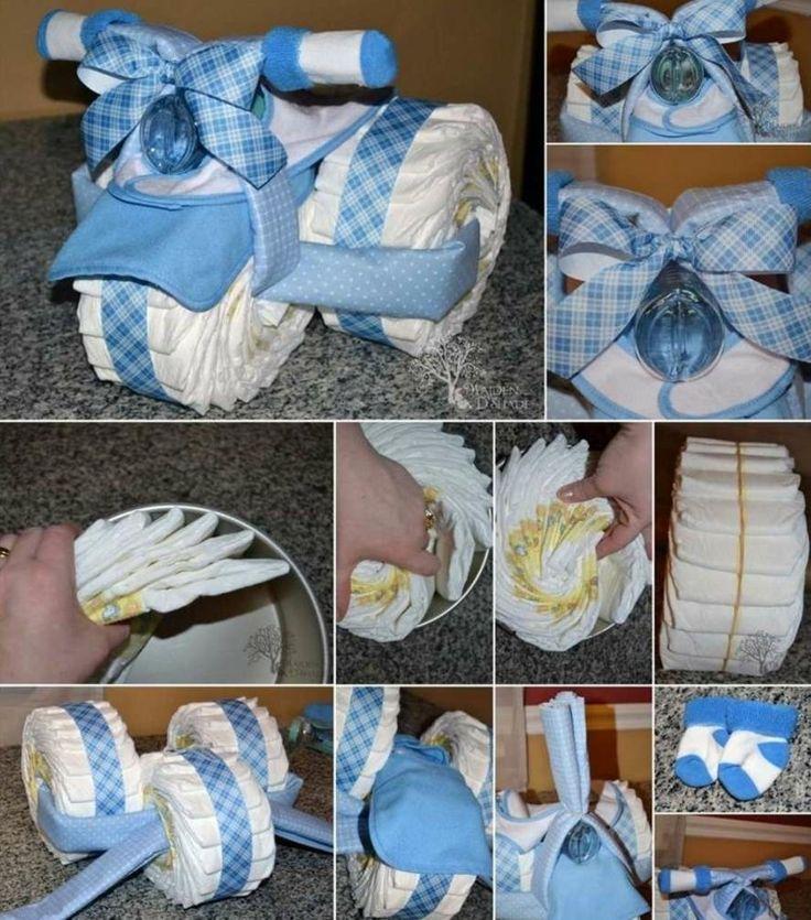 windeltorte-selber-machen-dreirad-blau-weiß-binden-anleitung-windeln
