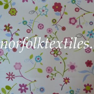 Florie Oilcloth in Petal