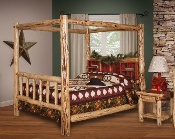 30 Of The Coolest Beds You Can Buy Log Canopy Bed King Size Canopy Bed Cool Beds