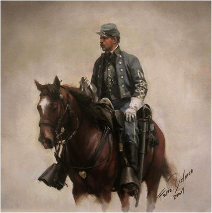 Ferrer-Dalmau, Oficial Confederado de Caballería, 1865