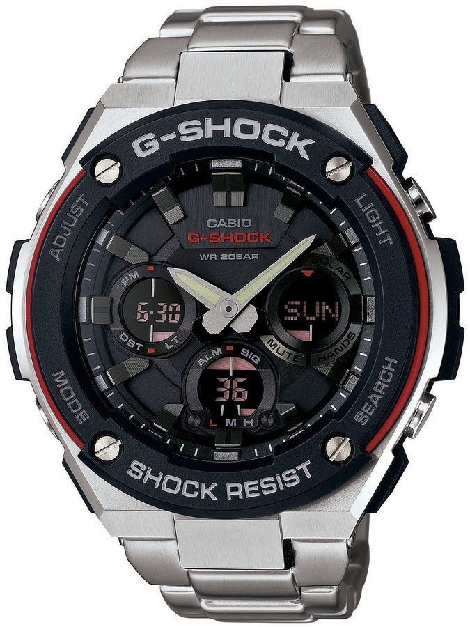 aad753575 G-Shock G-STEEL Red & Black Ana/Digi Stainless Steel Watch | Lots of ...