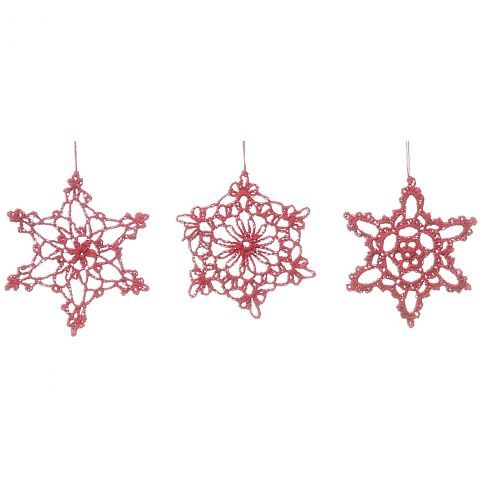 Set of 3 Fabric Snowflakes - Casafina