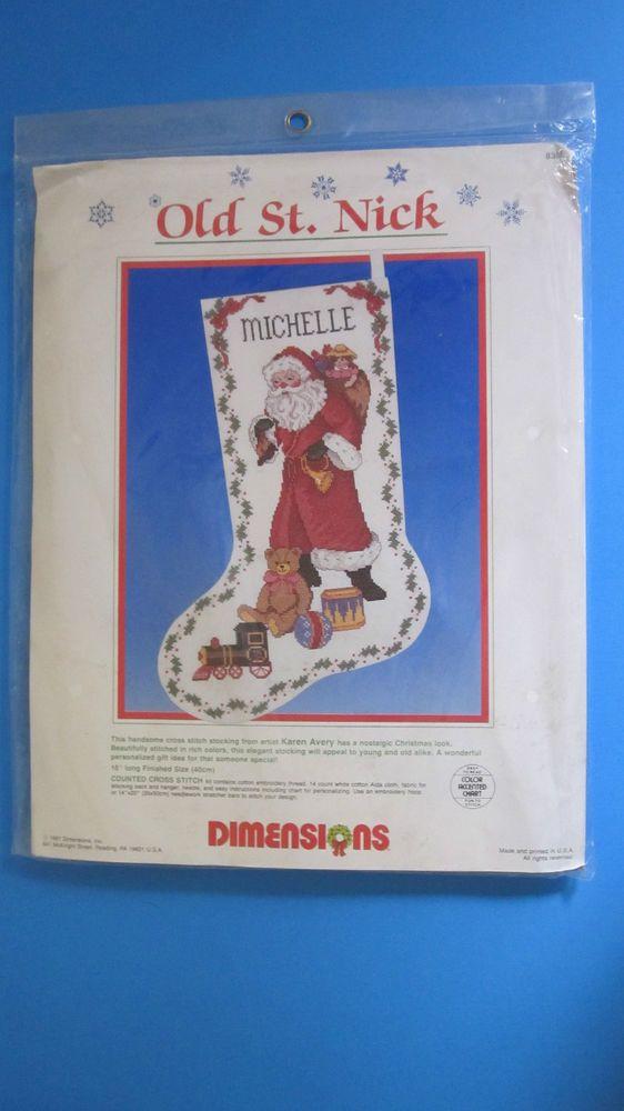 Dimensions Needlepoint Christmas Stocking Kits