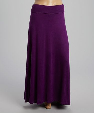 Loving this Purple Maxi Skirt - Plus on #zulily! #zulilyfinds