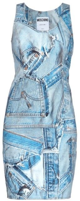 Moschino Denim patch-print denim dress