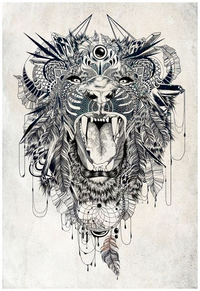 This would make a badass back piece or thigh tattoo