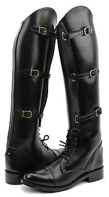 Hispar Men's Man Crown English Field Horse Motorcycle Riding Boots Equestrian