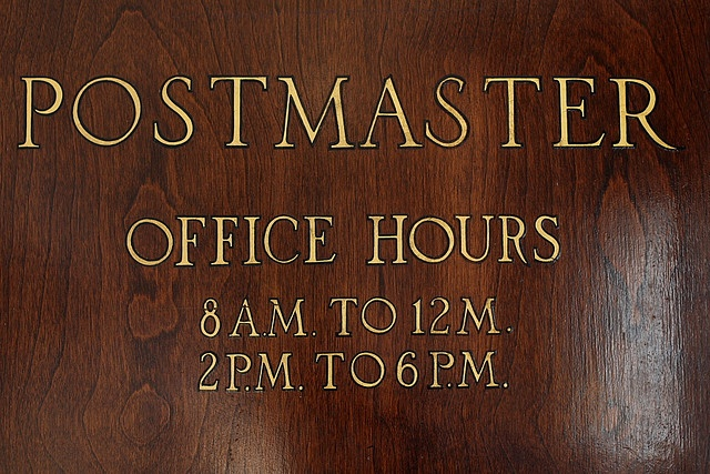 Postmaster Small town girl, You've got mail, Post office