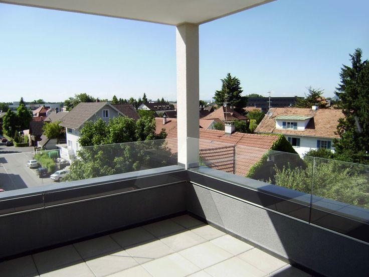 glazen balkon afscheiding