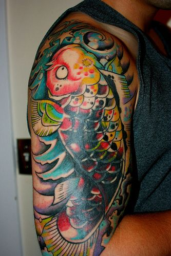 koi fish tattoo is one of the tattoo designs are very